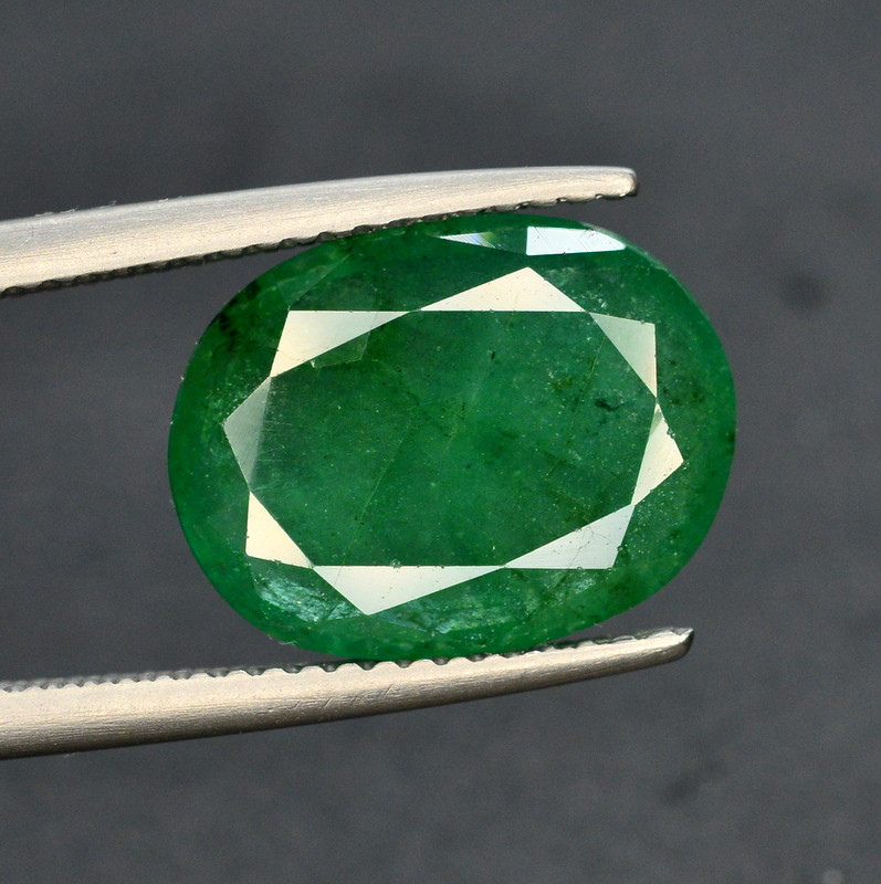 GIL CERT~4,54 Ct Natural Zambia Emerald Gemstone