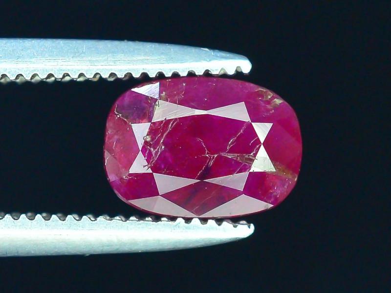 Top Clarity & Color 1.05 ct Rarest Pink Ruby~Kashmir