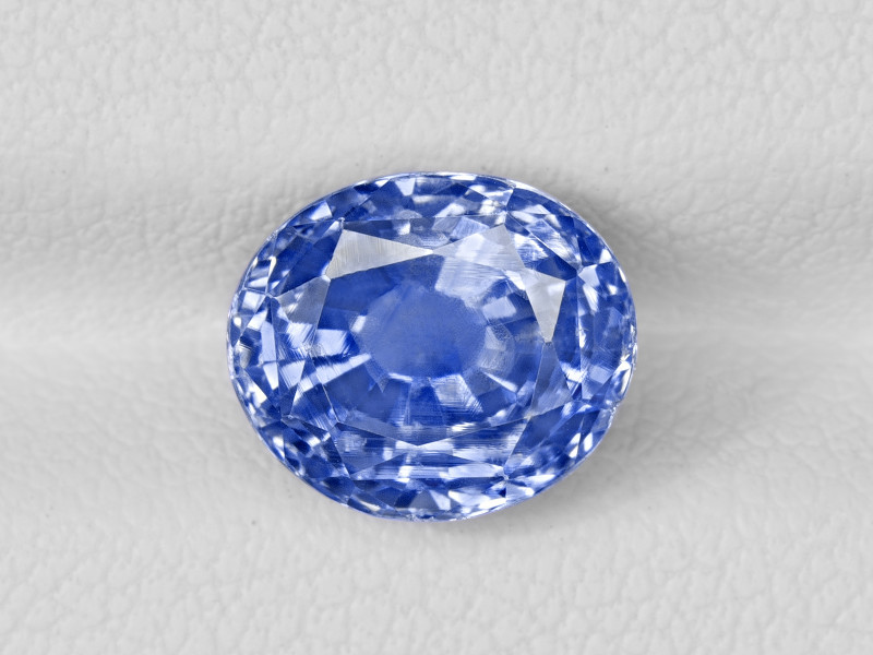 Blue Sapphire, 4.27ct - Mined in Kashmir   Certified by GIA, GRS & IGI