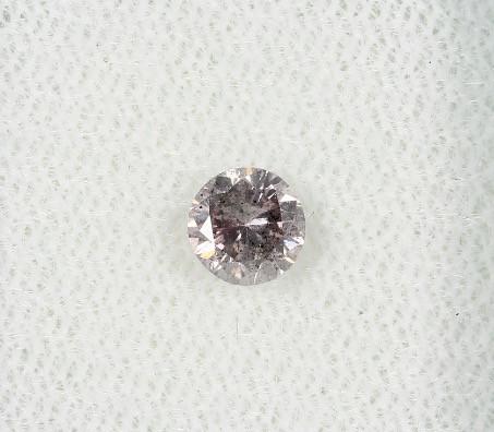 0.42ct round certified Diamond M / I2 natural