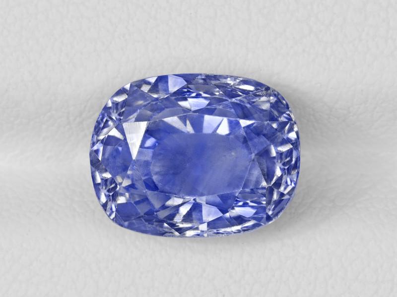 Blue Sapphire, 7.27ct - Mined in Kashmir | Certified by GRS