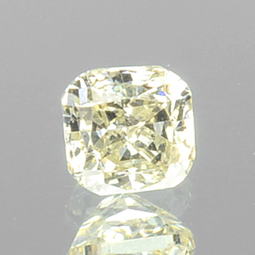 0.11 Cts Natural Untreated Diamond Fancy Yellow Cushion Cut Africa