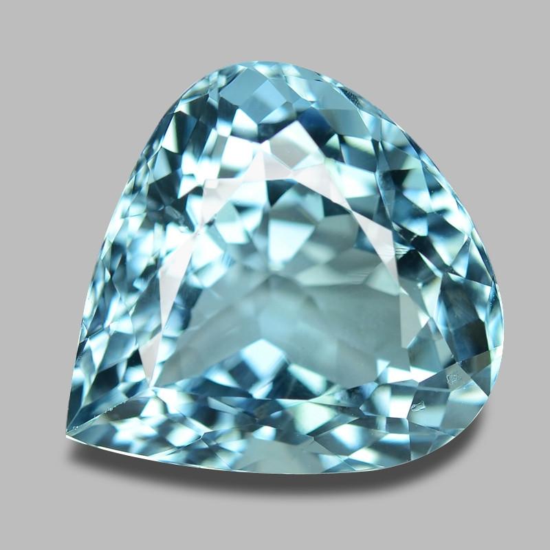 13.46 Cts Unheated  Sky Blue Color Natural Aquamarine Loose Gemstone