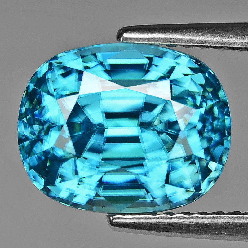7.26 Cts Blue Zircon Natural Loose Gemstone