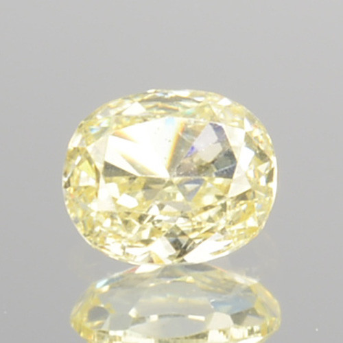 0.15 Cts Natural Untreated Diamond Fancy Yellow Oval Cut Africa