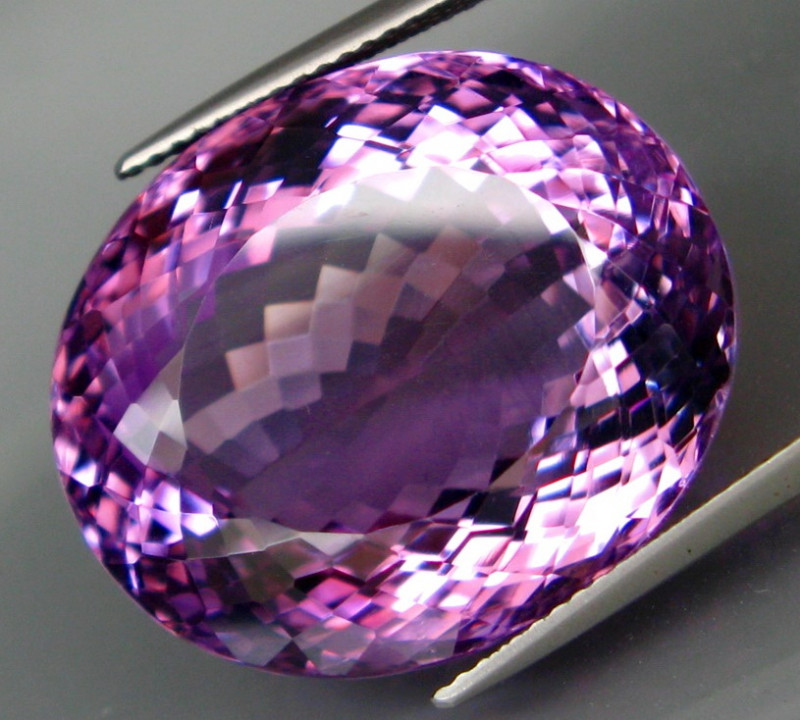 46.22  ct. Natural Top Nice Purple Amethyst Unheated Brazil - IGE Сertified