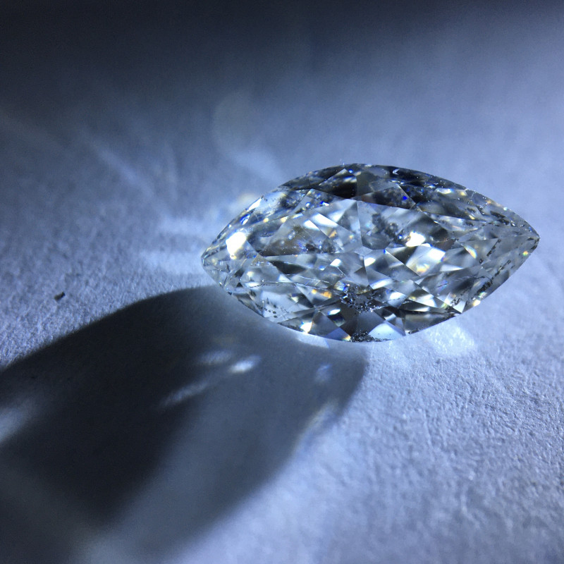 1.00 ct GIA H i2 marquise diamond