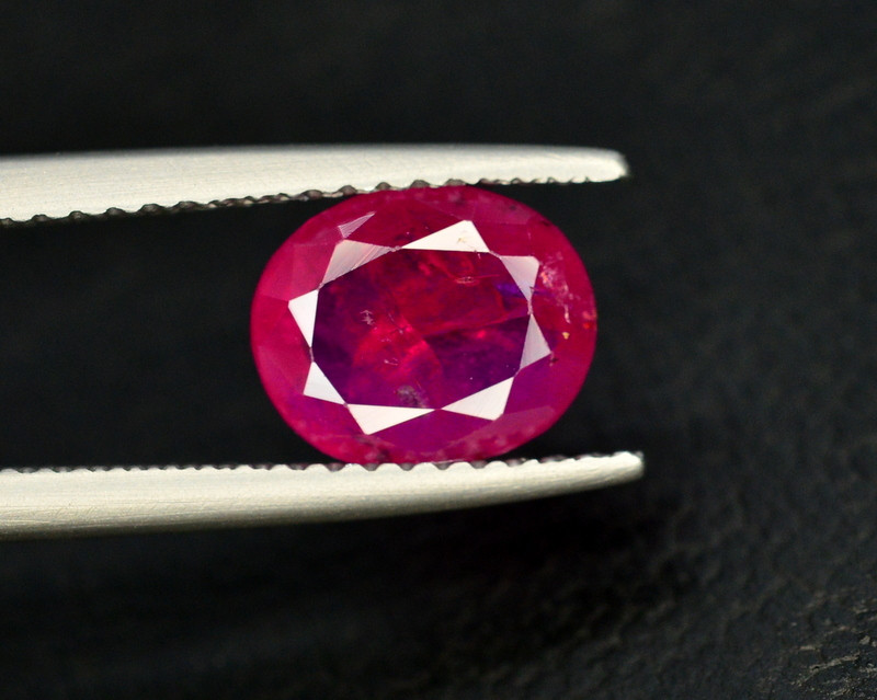 Brilliant Color 2.15 Ct Natural Ruby From Tajikistan