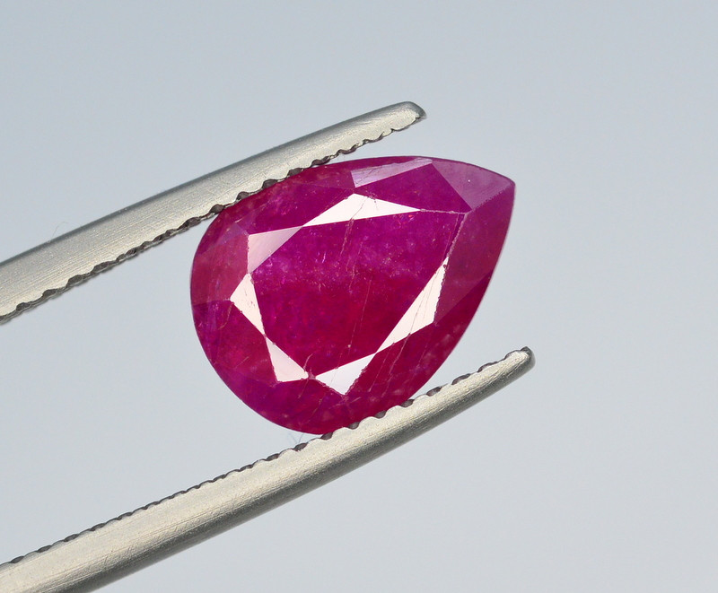 Brilliant Color 3.25 Ct Natural Ruby From Tajikistan
