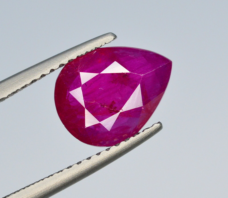 Brilliant Color 2.35 Ct Natural Ruby From Tajikistan