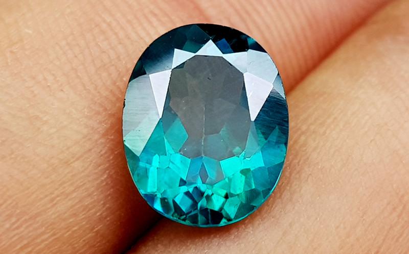 4.15 Crt Green Topaz caoted  Natural Gemstones JI41