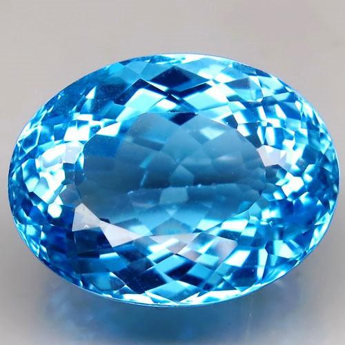 32.85 ct. 100% Natural Top Swiss Blue Topaz Brazil