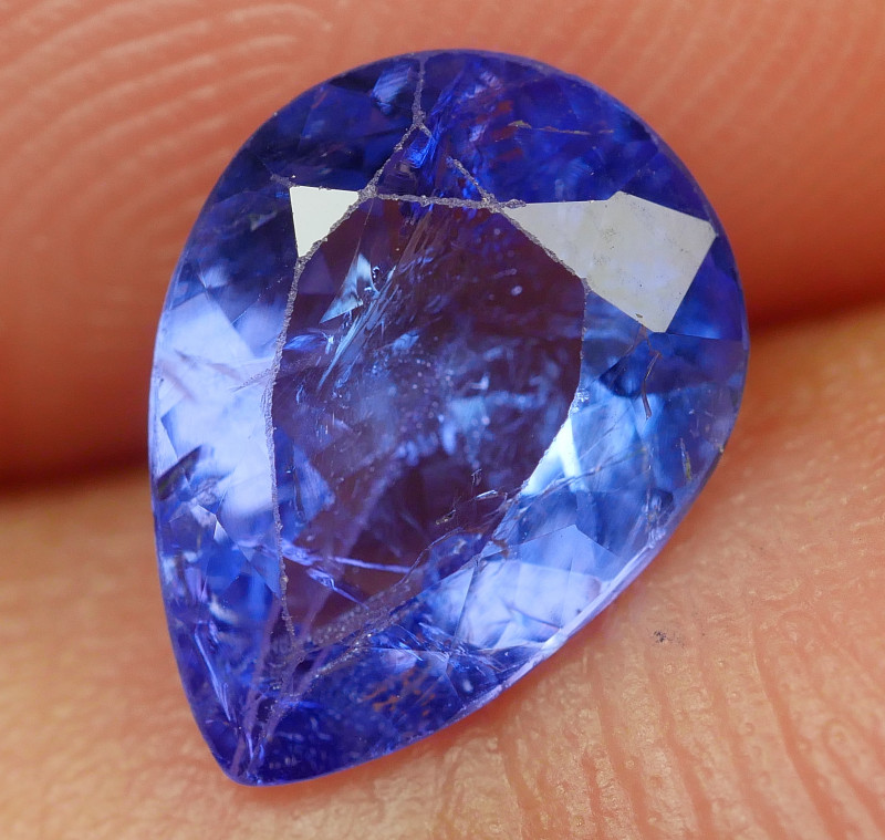 1.20 CRT WONDERFULL TANZANITE TOP COLOR GEMSTONE-