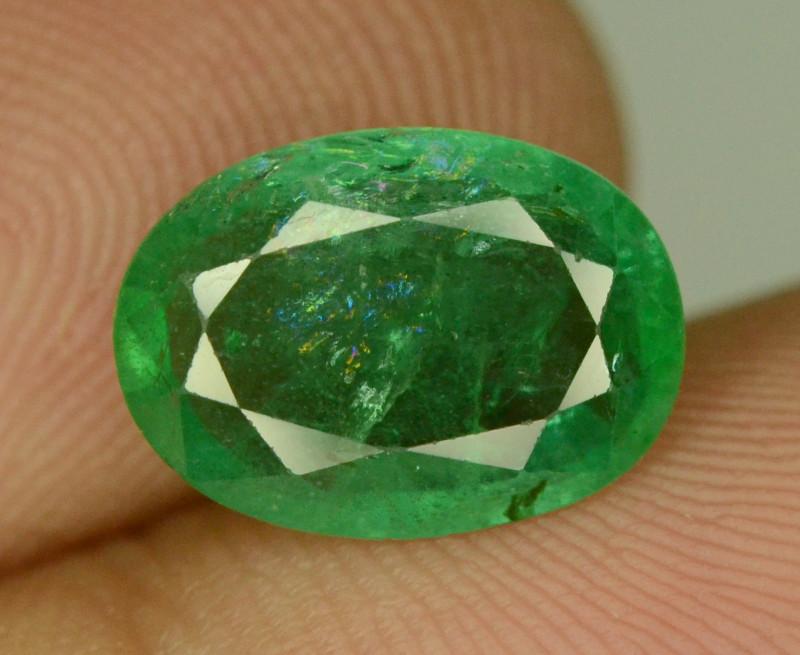 2.25 CT NATURAL GREEN ZAMBIAN EMERALD