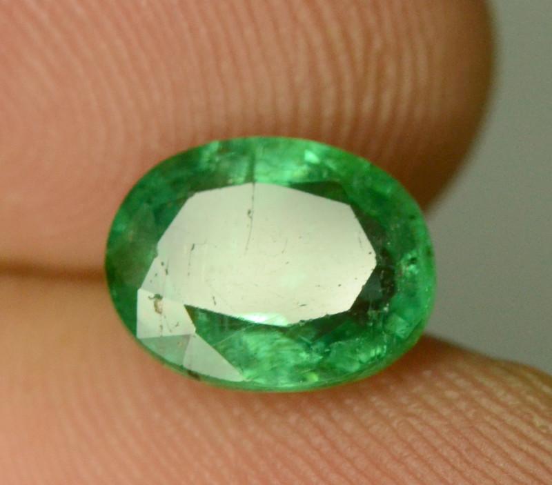 1.60CT NATURAL GREEN ZAMBIAN EMERALD