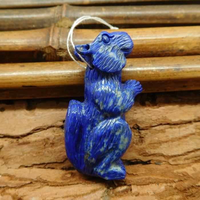 Lapis lazuli craft squirrel animal pendant (G1227)