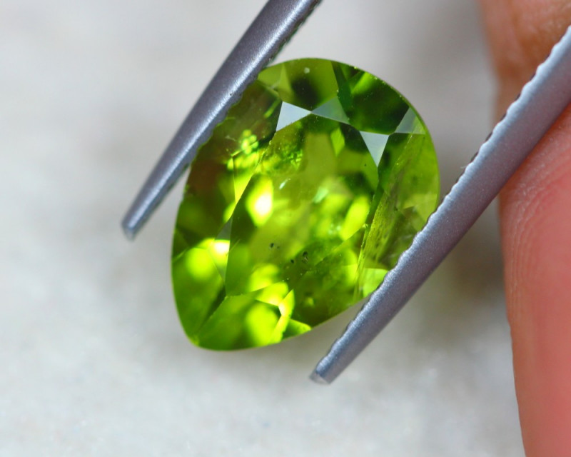 3.33Ct Natural Green Peridot Pear Cut Lot LZB517