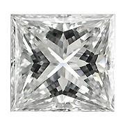 0.12 Carat Princess Cut Diamond (G/SI) - 2.60 mm