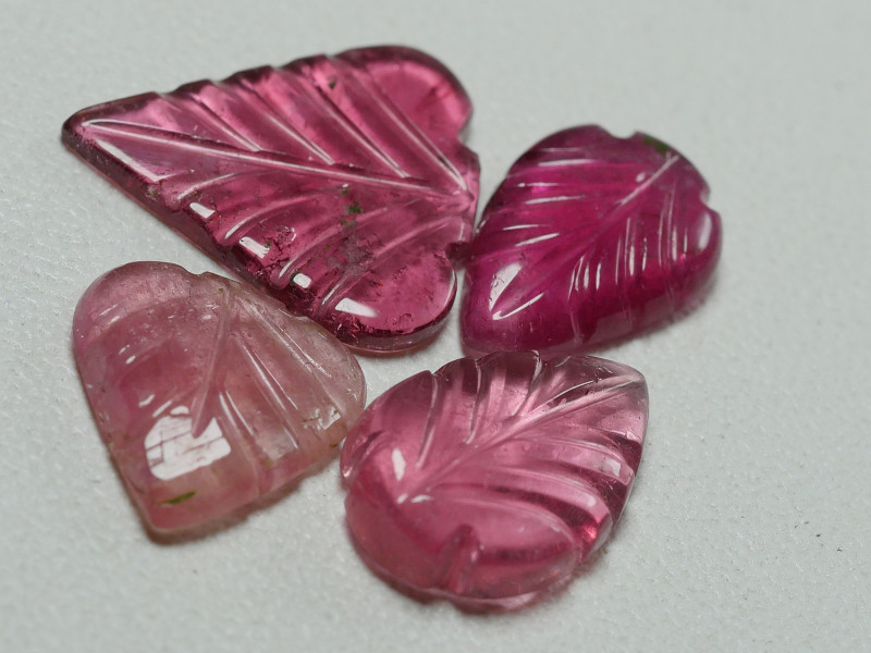 5.90CRT BEAUTY CARVING LEAF TOURMALINE PARCELS-