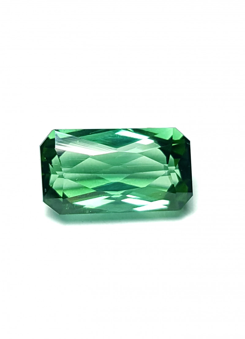 2.6 Cts Loop-clean Bright Green-blues Emerald Scissor cut Tourmaline -Afg
