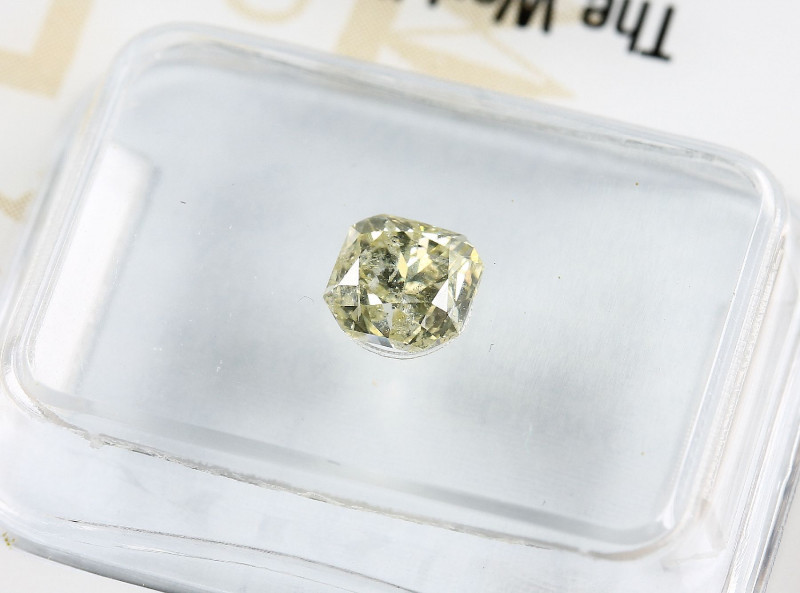 0.66 Natural Fancy Light Yellow Diamond GIA certified  Radiant
