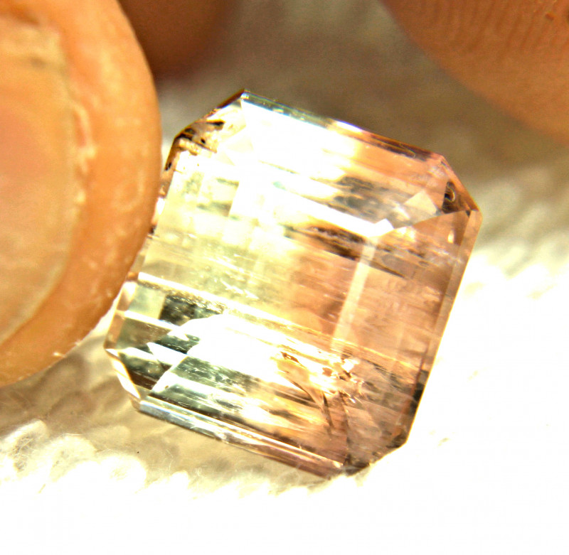 11.32 Included African Bi - Colored Tourmaline - Gorgeous
