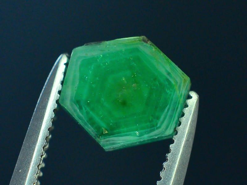 Top Grade 0.85 ct Swat Emerald Trapiche