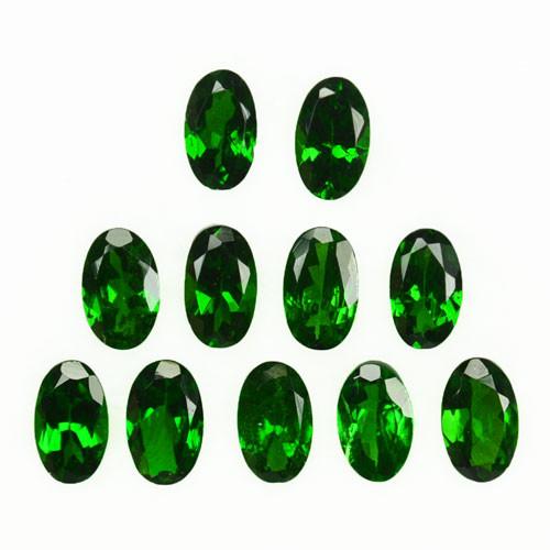 2.96Ct Vivid Green Natural Tsavorite Garnet Oval 5 X 3mm Parcel Kenya