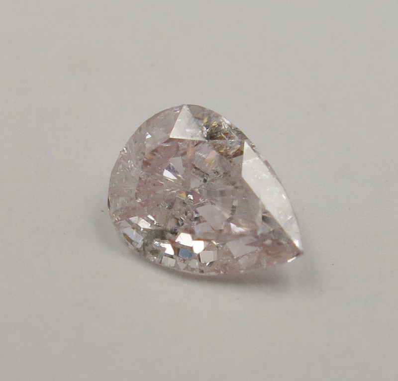 0.25ct Natural Light Pink  Diamond Pear GIA certified
