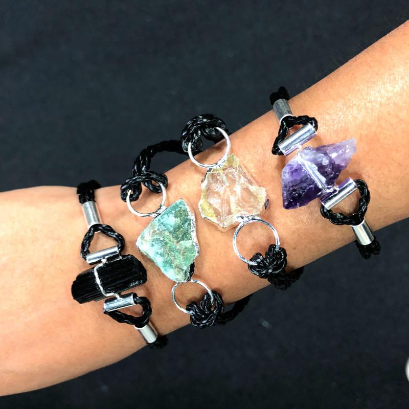 4 x Raw Rock Gemstones Bracelet - BR 953