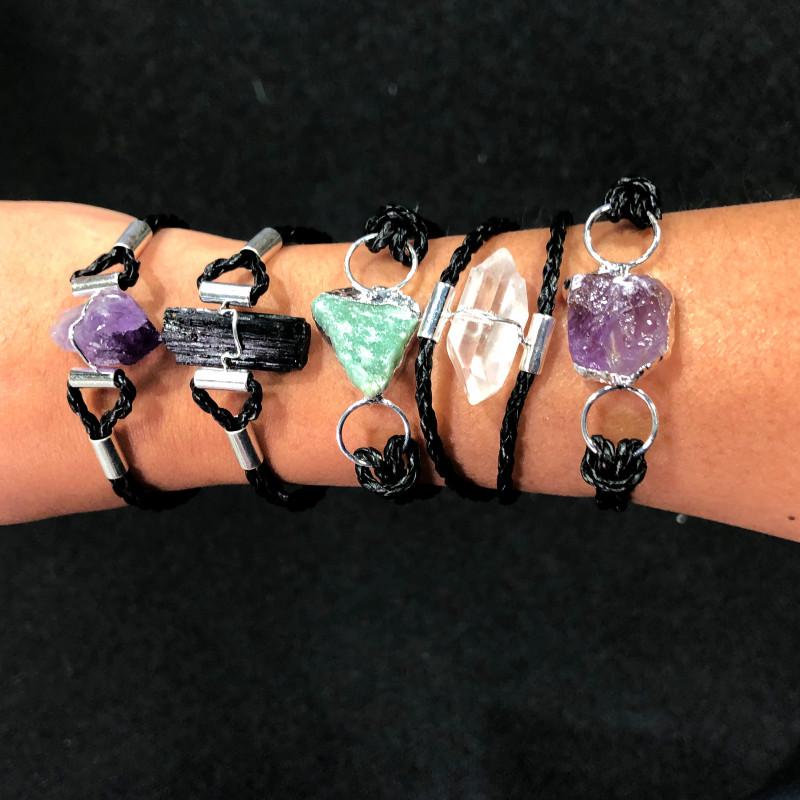 5 x Raw Rock Gemstones Bracelet - BR 968