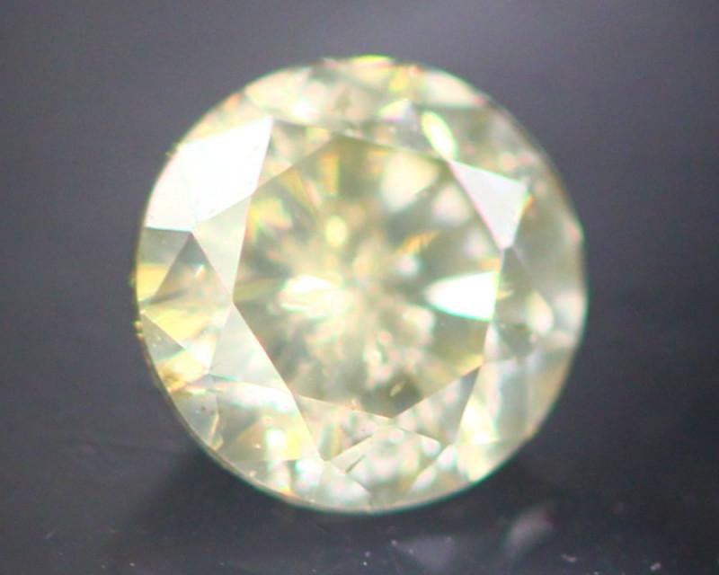 Diamond 0.26Ct Natural Fancy Champagne Color Round Diamond 16CF52