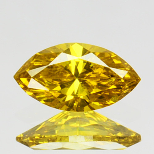 0.11 Cts Natural Diamond Golden Yellow Marquise Cut Africa