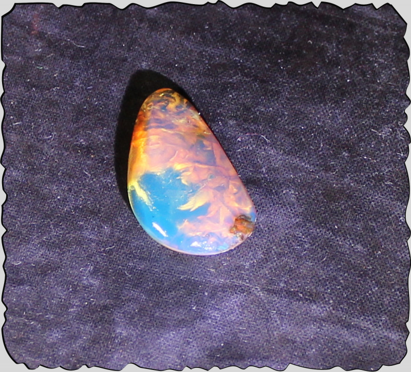 Exclusive Dominican Natural Clear Sky Blue Amber Cabochon 13mm 5cts