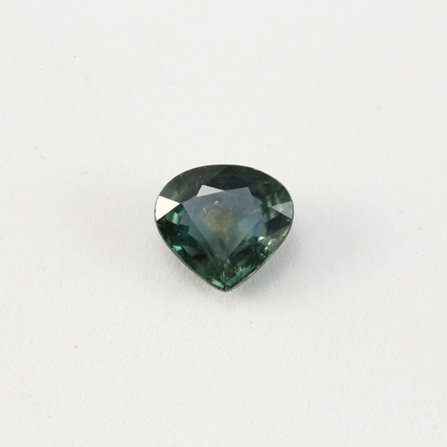 **UHEATED** 2.05ct Lab Certified Pear Cut Blue-Green Sapphire