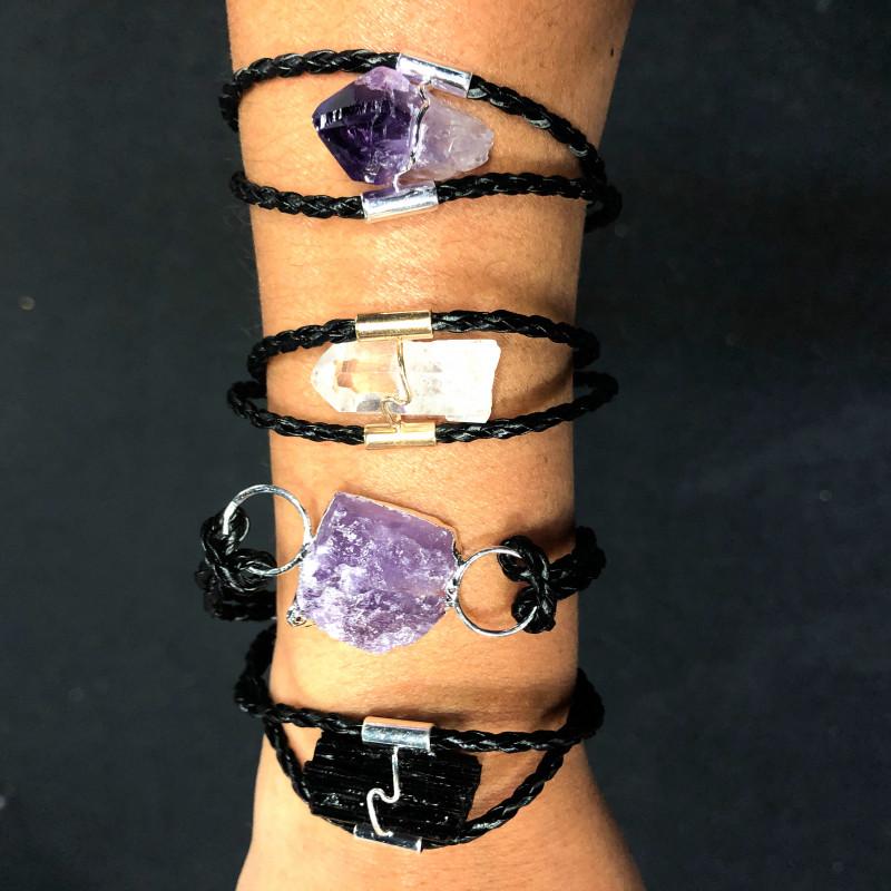 4 x Raw Rock Gemstones Bracelet - BR 985