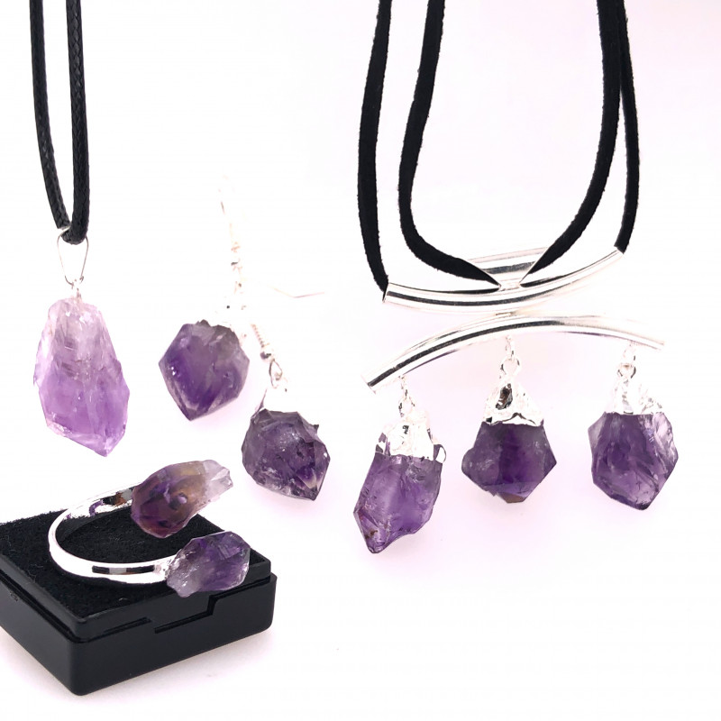 Amethyst lovers Four PieceJewelry Set Br 2280