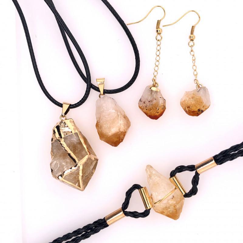 Citrine Lovers Four Piece Jewelry Set - BR 992