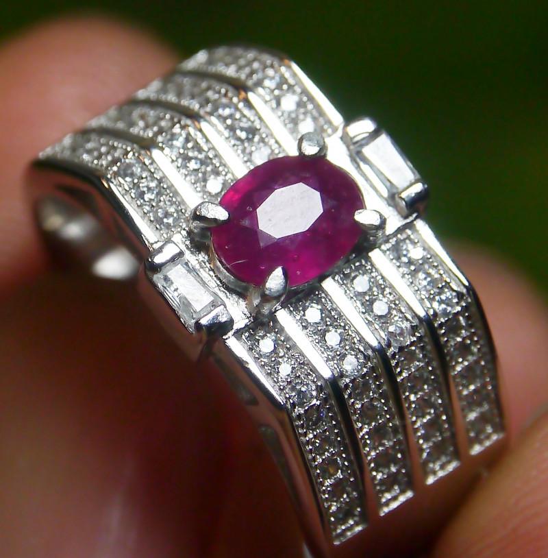 23.60 CT Pretty Natural Ruby Gemstone Ring Jewelry
