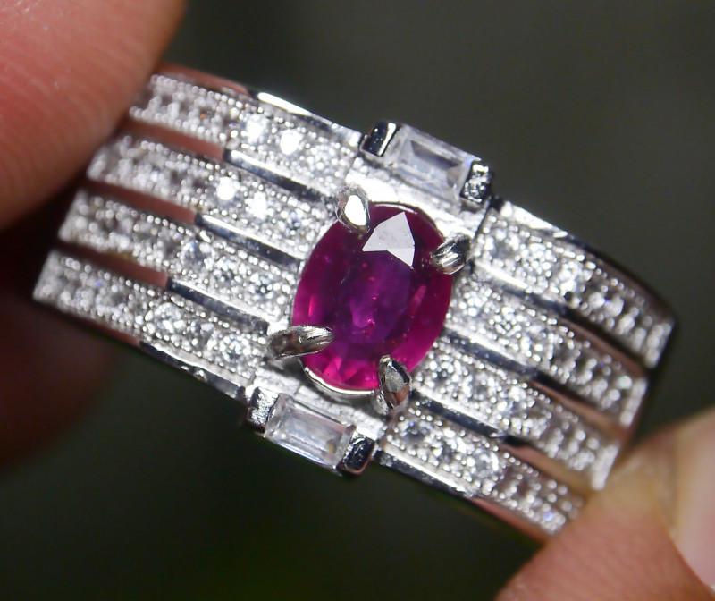 23.45 CT Pretty Natural Ruby Gemstone Ring Jewelry