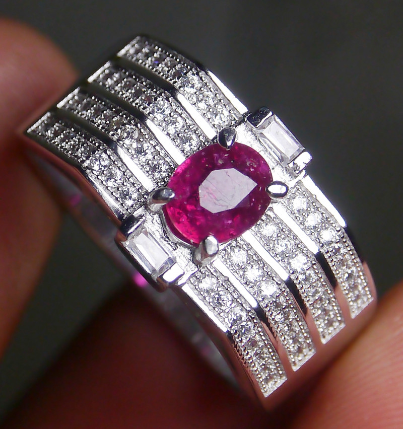 23.75 CT Pretty Natural Ruby Gemstone Ring Jewelry