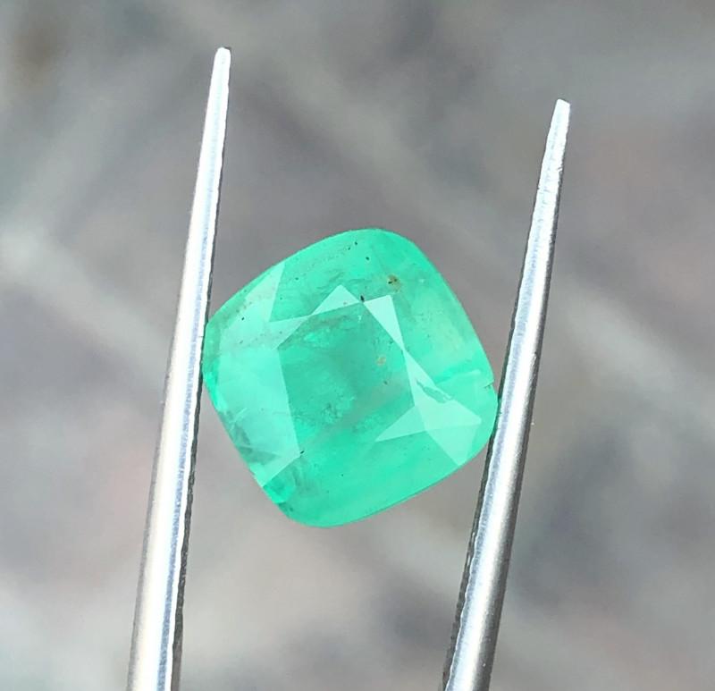 3.80 Ct Natural Greenish Semi Transparent Tourmaline Gemstone