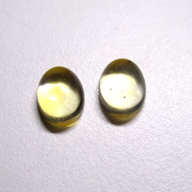 2.58tw Citrine Matching Oval Cabochons