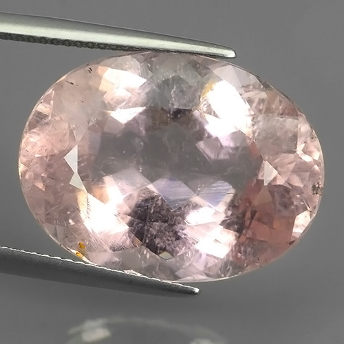 26.20 CTS TOURMAILNE OVAL FACET EXCELLENT LUSTER PINK UNHEATED GEM!!
