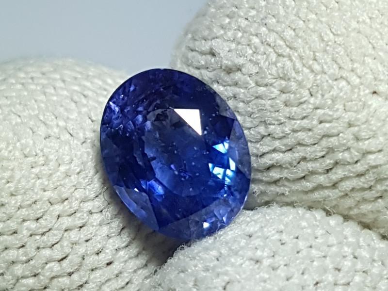 CERTIFIED 2.08 CTS NATURAL BEAUTIFUL CORNFLOWER BLUE SAPPHIRE SRI LANKA