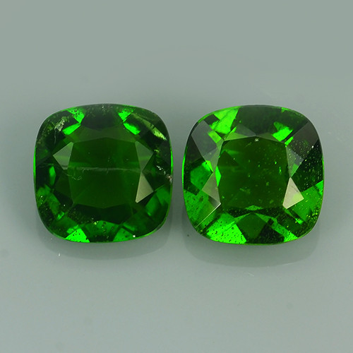 2.70 CTS NATURAL ULTRA RARE CHROME GREEN DIOPSIDE CUSHION RUSSIA