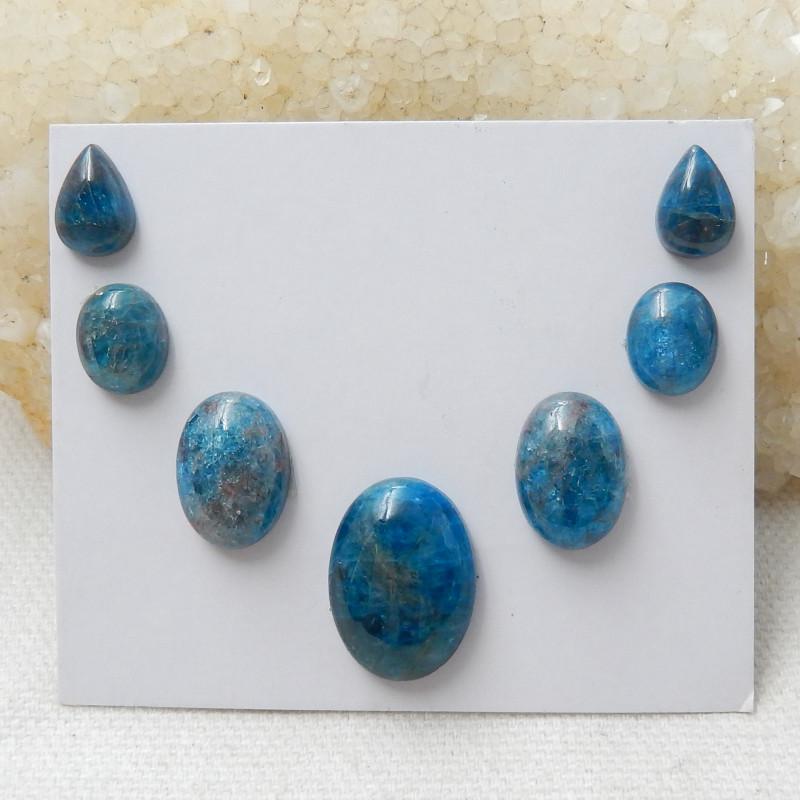37.25ct Blue Apatite Crystal Cabochons E238
