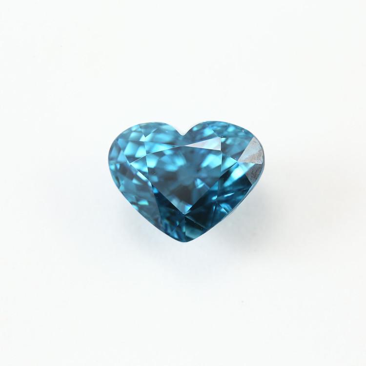 6.42ct. Lab Certified Natural Blue Zircon