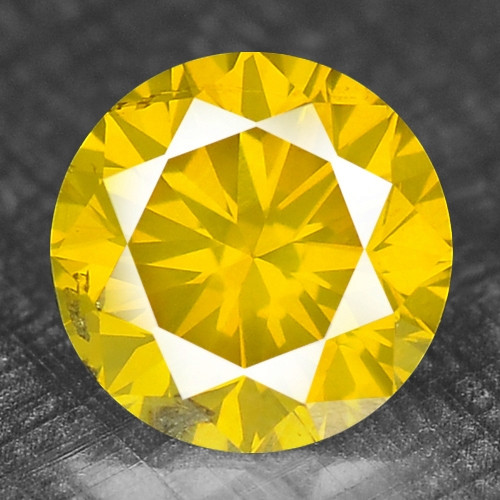 0.35 Cts RARE FANCY CANARY YELLOW COLOR NATURAL DIAMOND