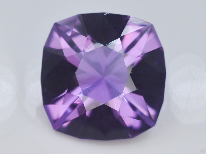 11.50 CT Natural Gorgeous Color Fancy Cut Amethyst ~  H